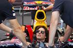 Tom Cruise drives the Red Bull Formula 1