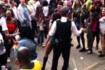 An enterprising dance on a policeman