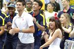 Un flash mob sur Call Me Maybe avec Novak Djokovic et Carly Rae Jepsen